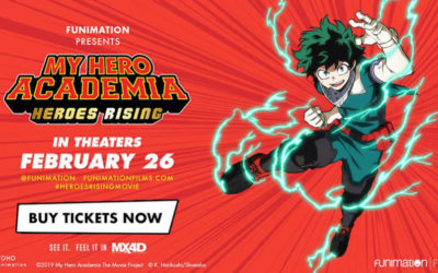 "Funimation Films Teams with MediaMation's MX4D To Offer ""My Hero Academia: Heroes Rising"" In Immersive, Motion Format"