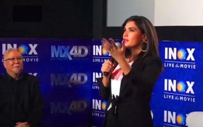 Bollywood Actress Richa Chadda at MX4D INOX Opening